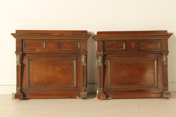 Specchiera e coppia alzatine antiquariato stile impero for Stili mobili