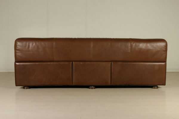 Three Seater Sofa by Rossi di Albizzate Foam Leather Vintage Italy ...