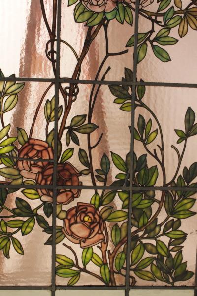 Pair of stained glass art nouveau - Liberty - Bottega del 900 ...