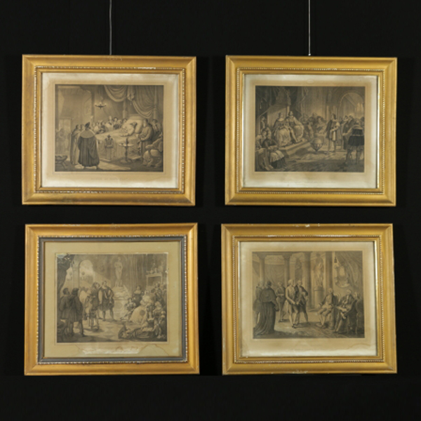 Gruppo di quattro cornici ottocentesche specchi e - Cornici per specchi ...