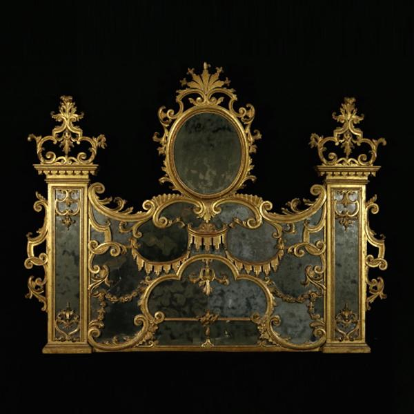 Specchiera barocca da camino specchi e cornici for Specchiera barocca