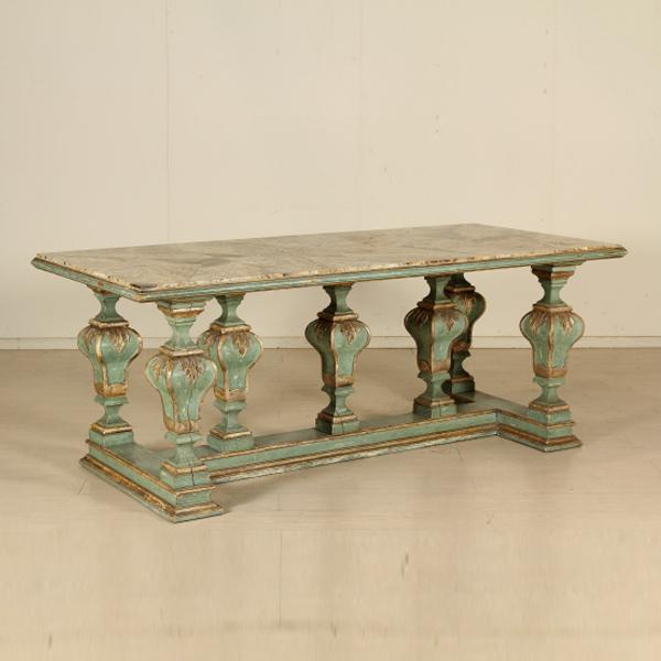 Tavolo con piano in onice tavoli antiquariato for Negozi tavoli milano