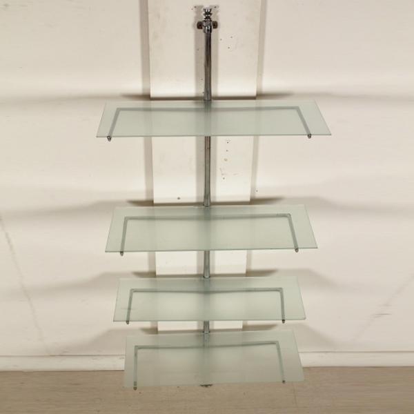 Libreria piani in vetro librerie modernariato for Piani moderni in vetro