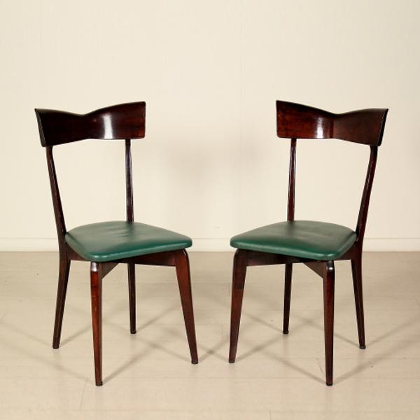 Sedie nello stile di ico parisi sedie modernariato for Sedie di design 2017