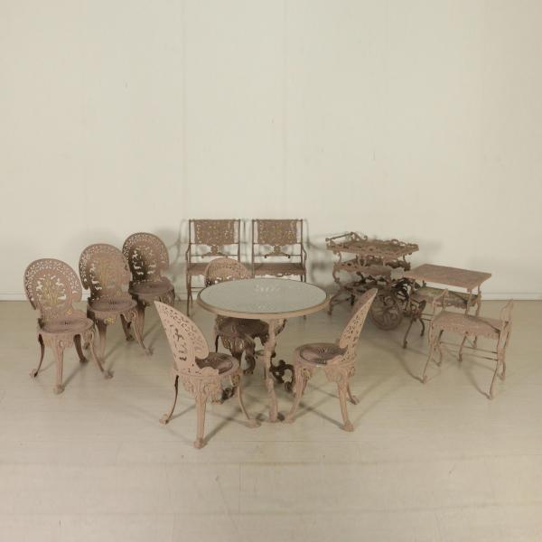 Sedie In Ghisa Da Giardino Prezzi.Salotto Da Esterno In Ghisa Arredi Completi Bottega Del 900