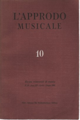 L'approdo musicale, n. 10