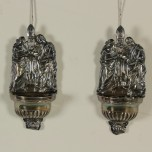 Pair of silver holy water