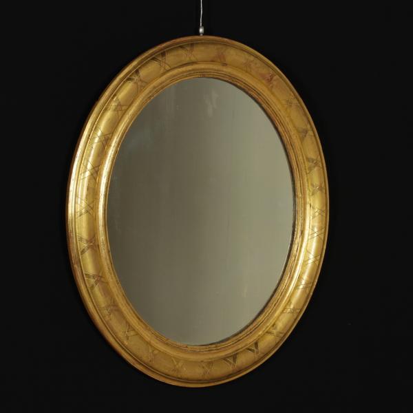Specchio ovale specchi e cornici antiquariato - Specchio ovale ikea ...