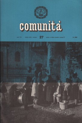 Community. The movement's monthly magazine community. Year VIII October 27, 1954 n.