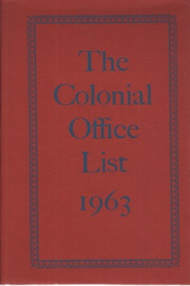 Le Colonial Office list 1963