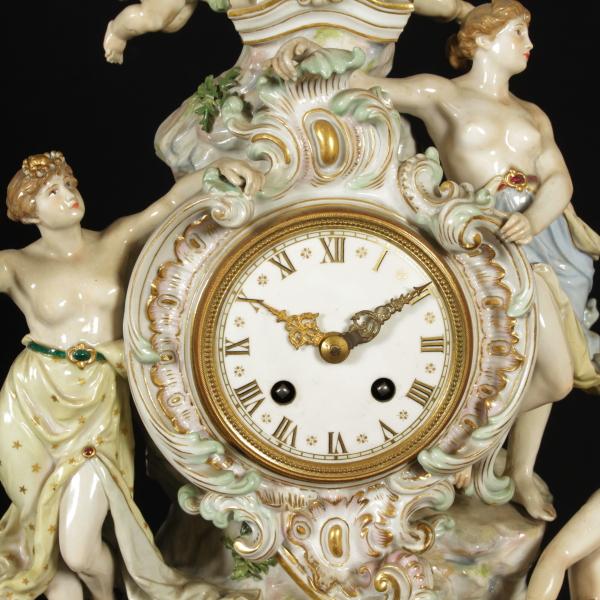 Orologio da tavolo Meissen Ceramiche Antiquariato