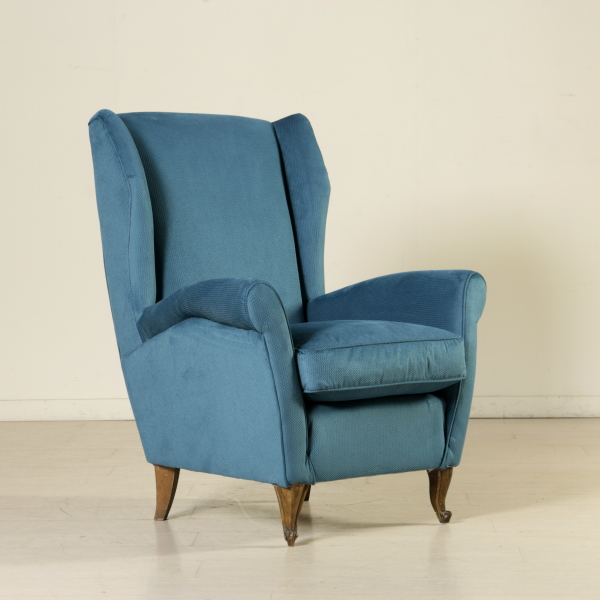 Poltrone Bergere Moderne.Bergere Armchair Springs Feathers Fabric Vintage