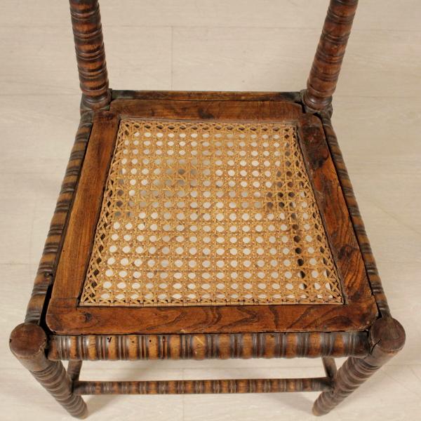 Sedia effetto bamboo sedie poltrone divani for Sedia particolare
