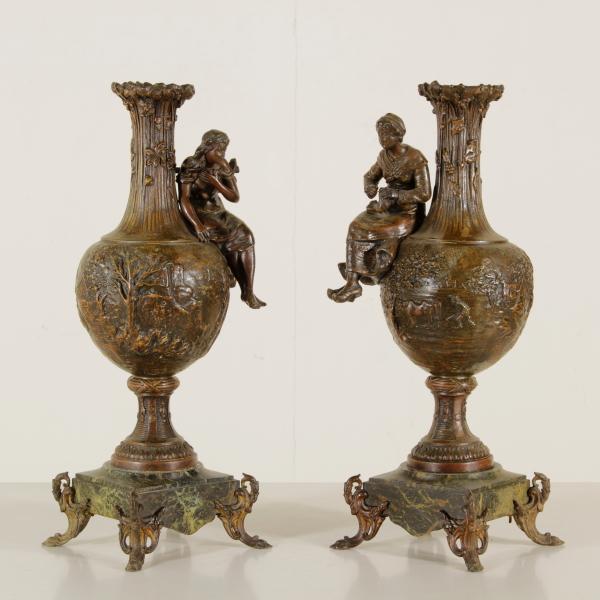 Pareja de jarrones de estilo art nouveau decoraci n para for Decoracion art nouveau