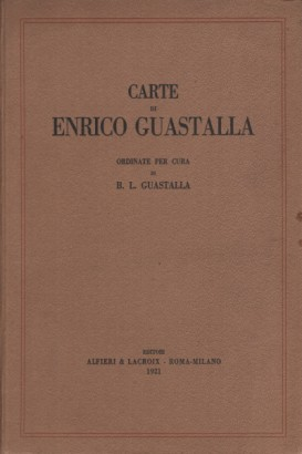 Papers of Enrico Guastalla