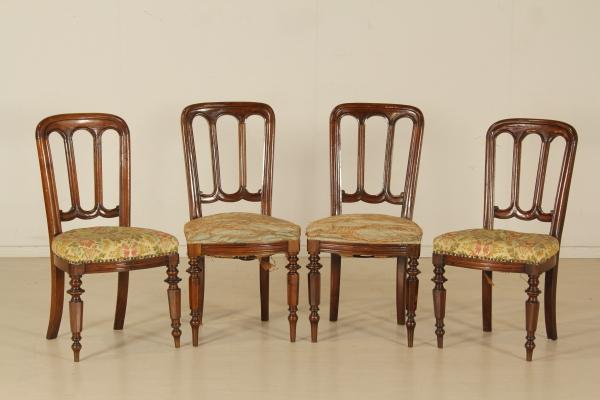 Sedie Stile Windsor : Gruppo di quattro sedie stile umbertino sedie poltrone divani