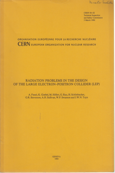 Radiation problems in the design of the large elec, AA.VV.