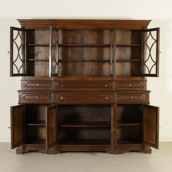 Libreria con alzata mobili in stile bottega del 900 for Piani di libreria stile artigiano
