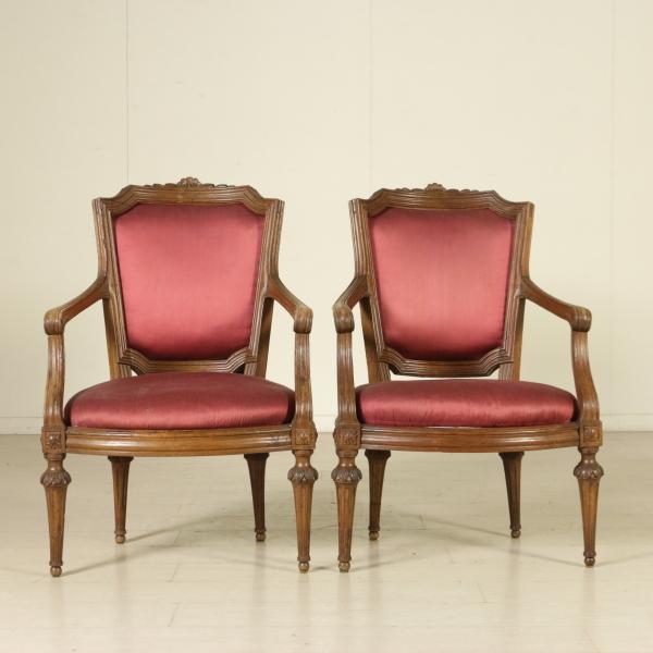 Par de sillones de estilo neocl sico mesas de sillas - Sillones de estilo ...