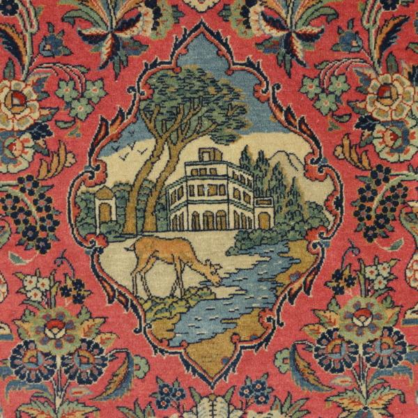 Alfombra de kashan antigua ir n alfombras for Alfombras de iran