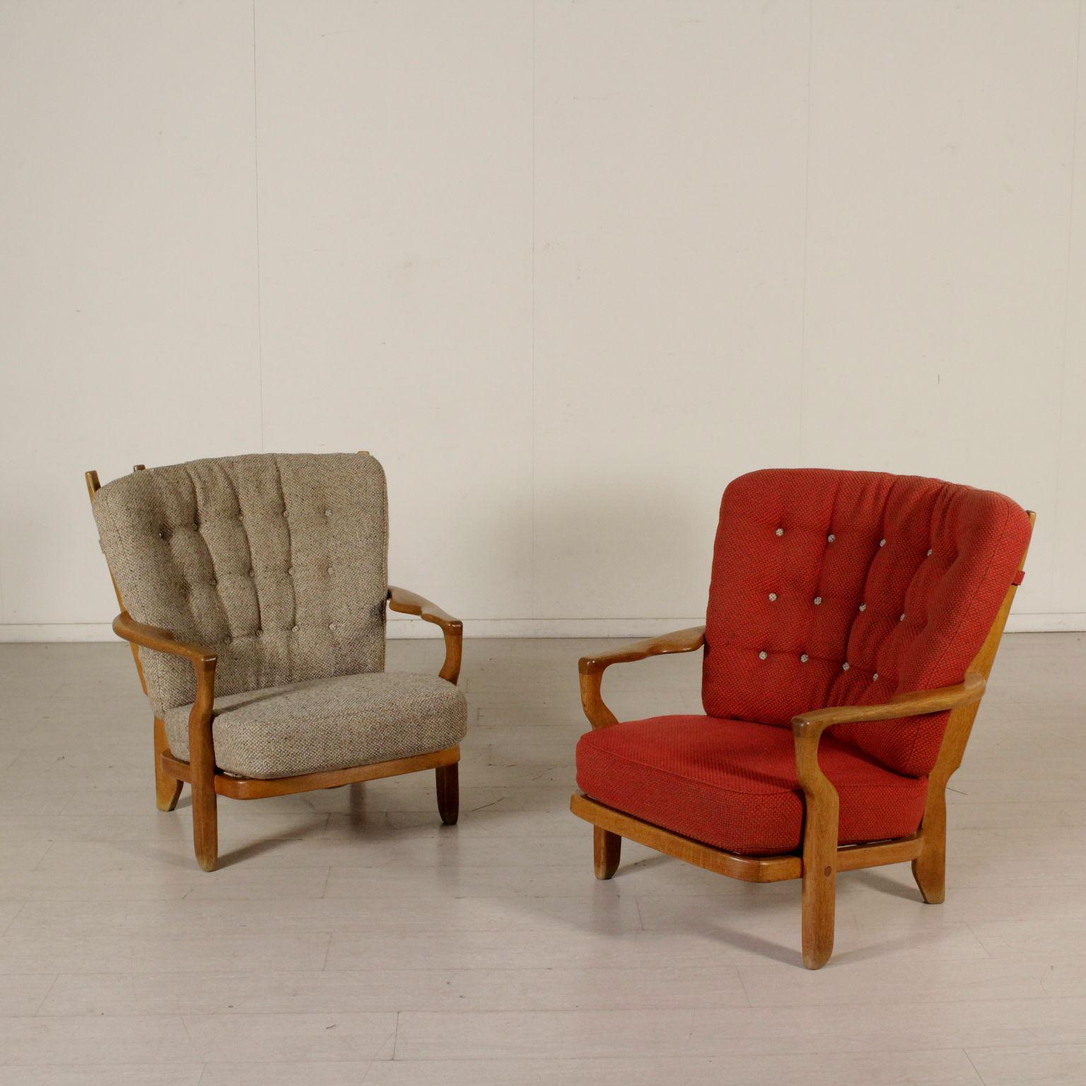poltrone attribuibili a guillerme et chambron poltrone modernariato. Black Bedroom Furniture Sets. Home Design Ideas