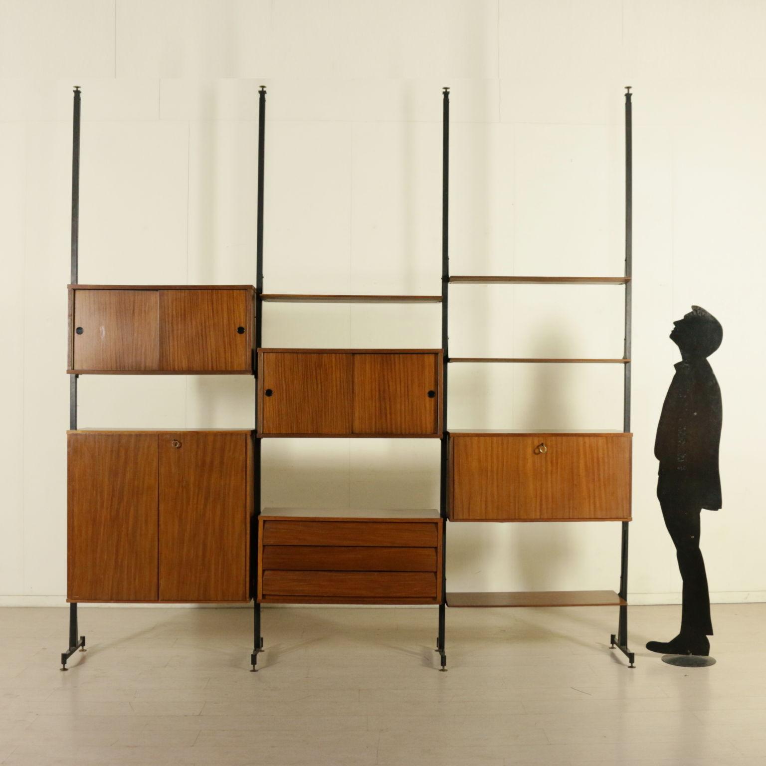 biblioth que ann es 50 60 vintage italie les biblioth ques design moderne. Black Bedroom Furniture Sets. Home Design Ideas
