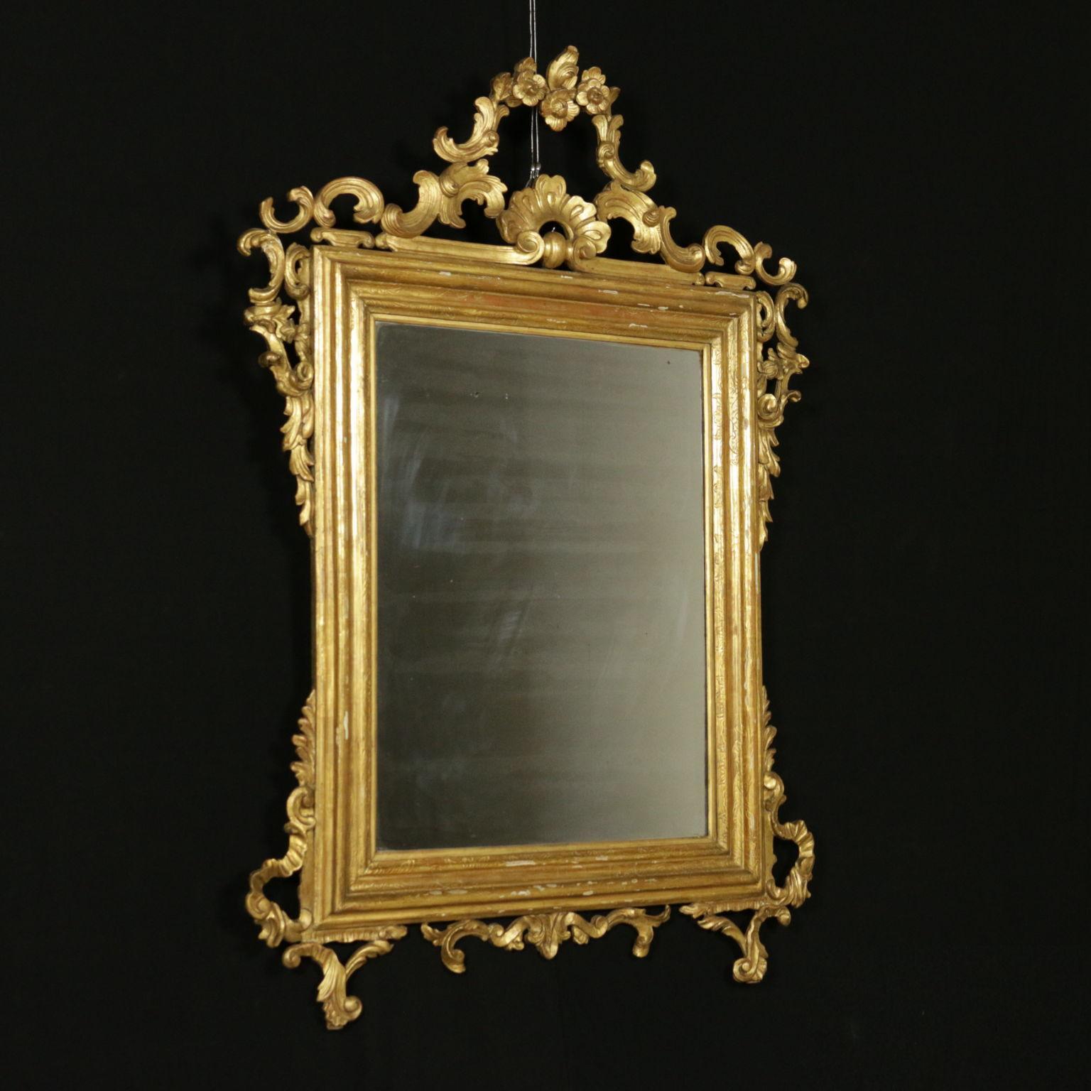 Specchiera dorata specchi e cornici antiquariato - Specchio con cornice dorata ...