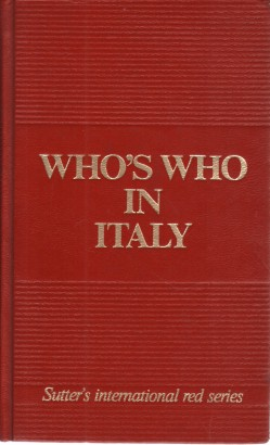 Who's who in Italy 1987