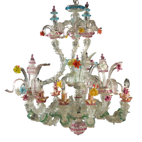 Murano chandelier chandeliers and lamps antiques dimanoinmano chandelier murano mozeypictures Image collections