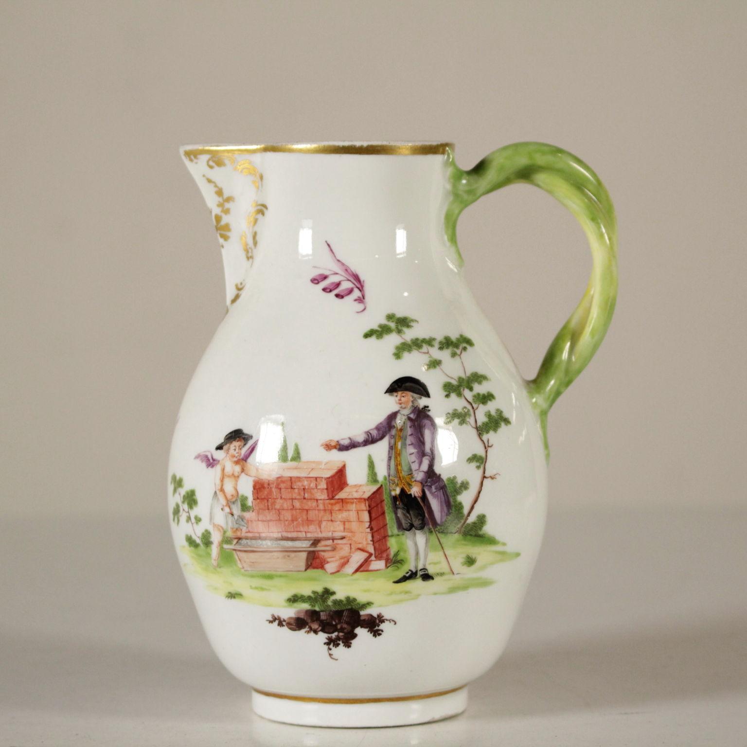 lattiera in porcellana ceramiche antiquariato