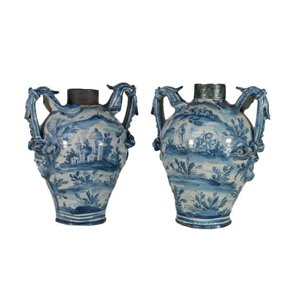 Amphora Serpentine Vases With Handles Stops To Mask Home Decor