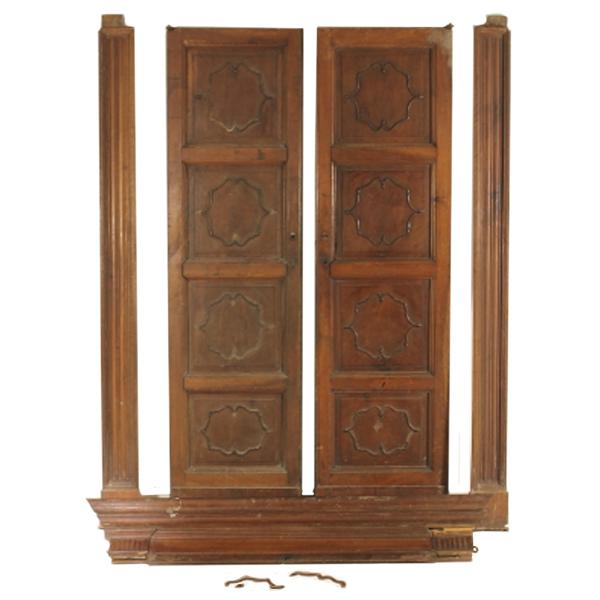 Porta a due ante con telaio - Altri mobili - Antiquariato ...