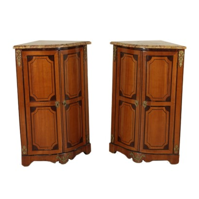 Pair of Corner Cabinets Rosewood Manufactured in France 18th Century