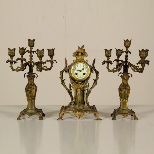 Triptychon von Jugendstil-Kamin - Wohnkultur - Antiquitäten ...