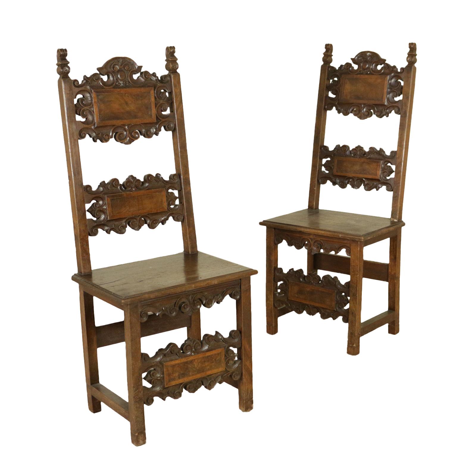 Coppia di sedie a cartelle sedie poltrone divani for Poltrone sedie