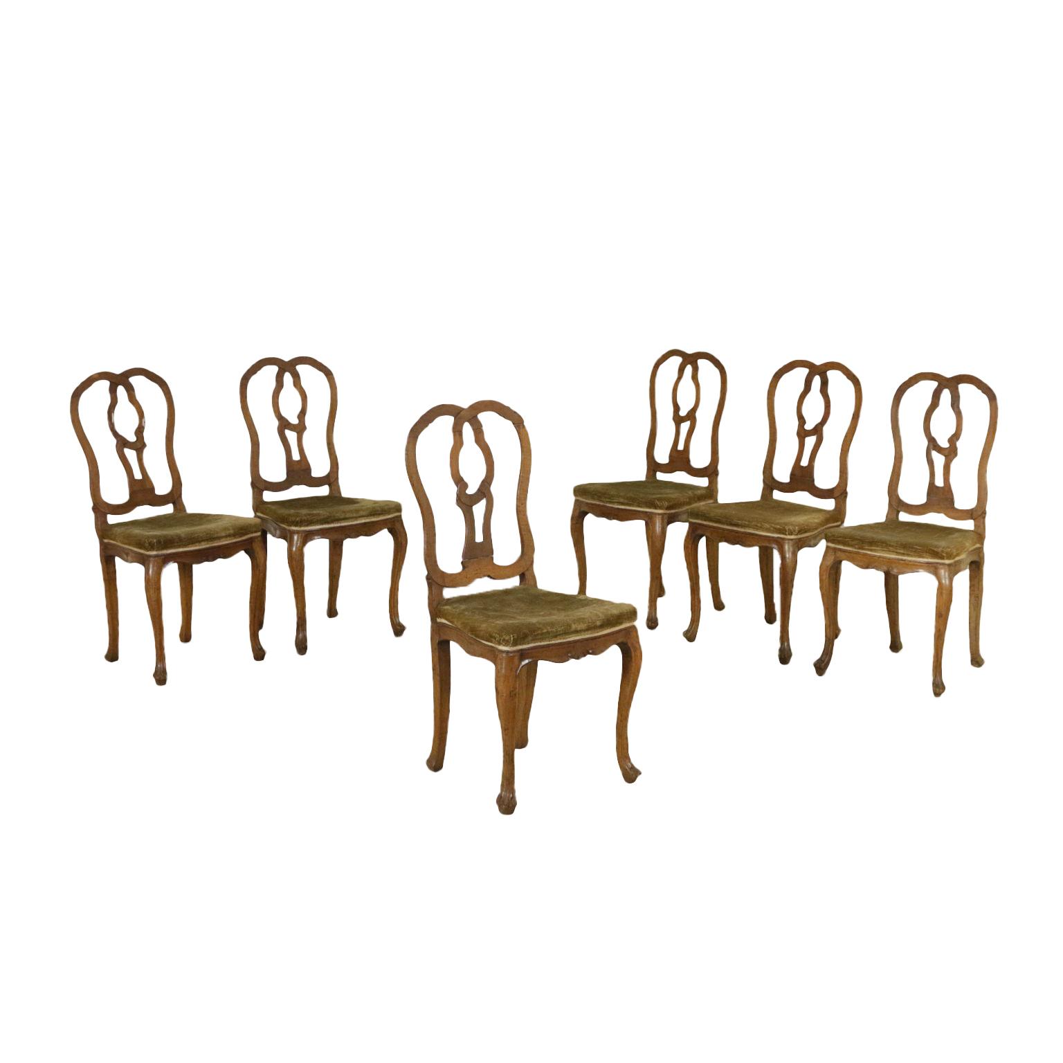 Gruppo di sei sedie barocchetto sedie poltrone divani for Poltrone sedie