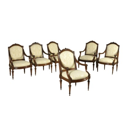 Group of Six Chairs Louis XVI