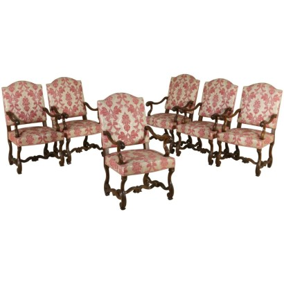 Group of 6 Armchairs 18th Century