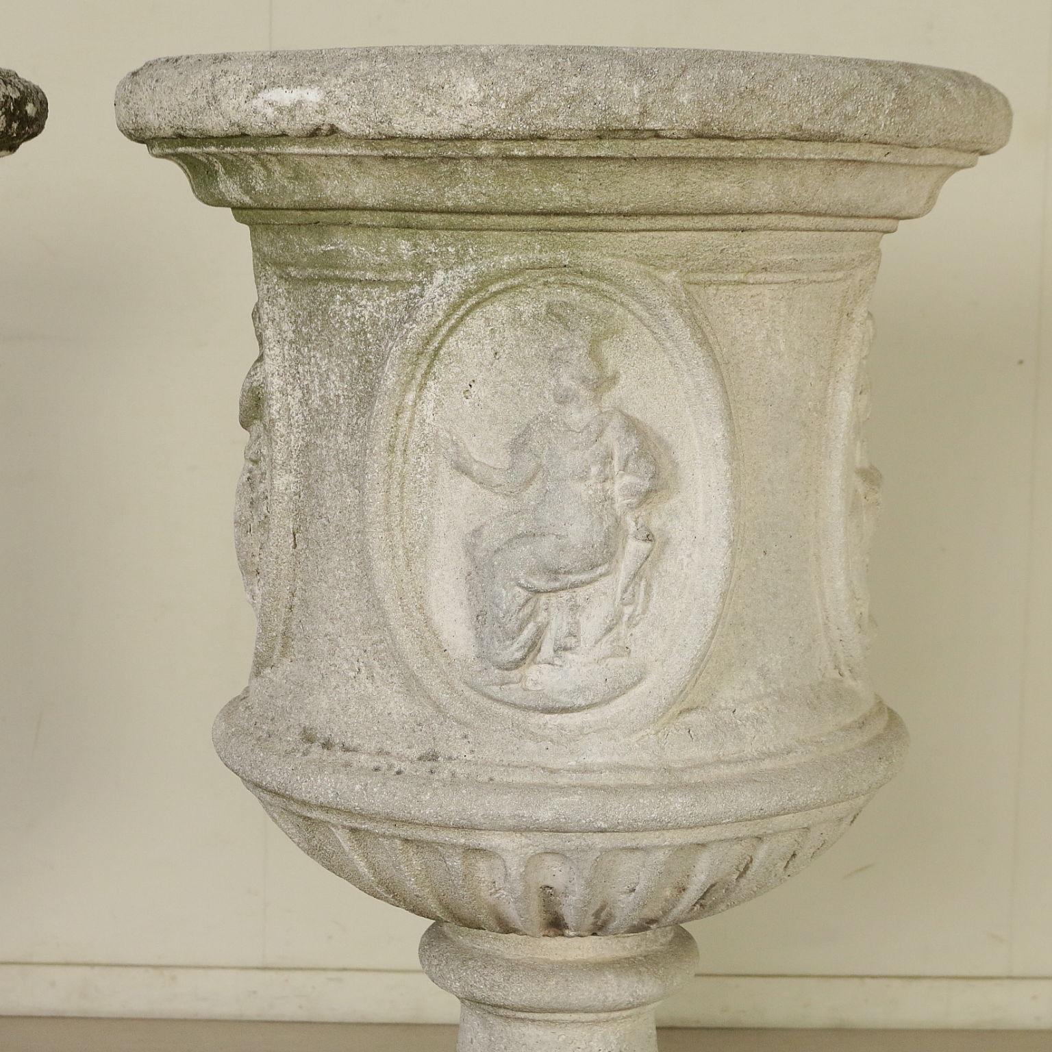 Coppia di vasi liberty pietre e arredi giardino for Arredi antiquariato