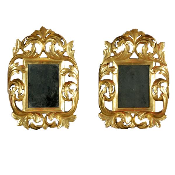 paar goldrahmen mit spiegel spiegel und rahmen. Black Bedroom Furniture Sets. Home Design Ideas