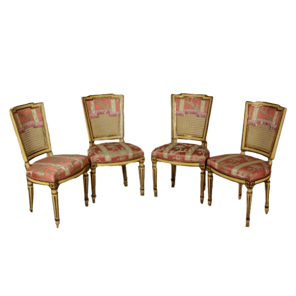 Gruppo di Quattro Sedie Luigi XVI - Sedie Poltrone Divani ...