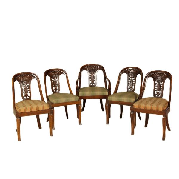 Gruppo di quattro sedie e poltroncina - Sedie Poltrone Divani ...