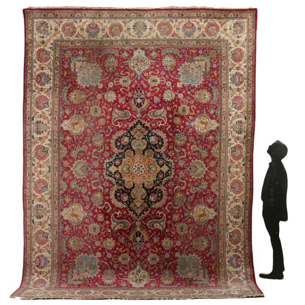 Alfombra tabriz ir n alfombras antiguedades for Alfombras de iran