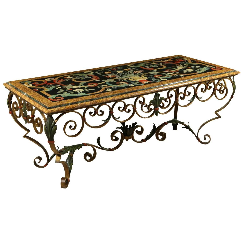 Marmor und scagliola tabelle tische antiquit ten for Marmor tische