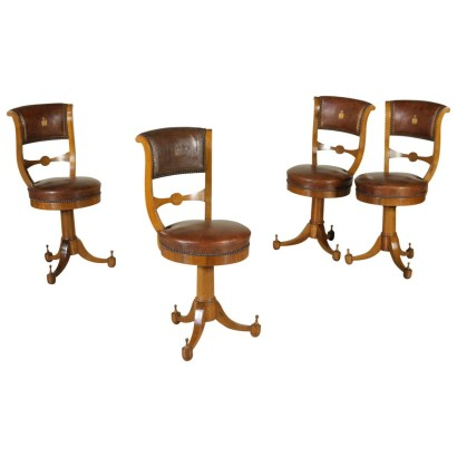 Group of four Music Chairs Vintage Italy