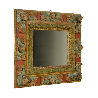 Frame, carved and lacquered