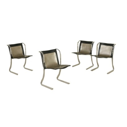 4 Chairs Vintage Italy 60s-70s
