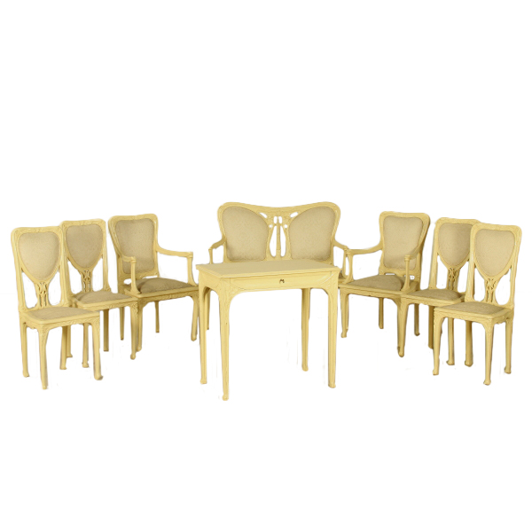 Salotto Art Nouveau.Art Nouveau Lounge Arredi Completi Bottega Del 900