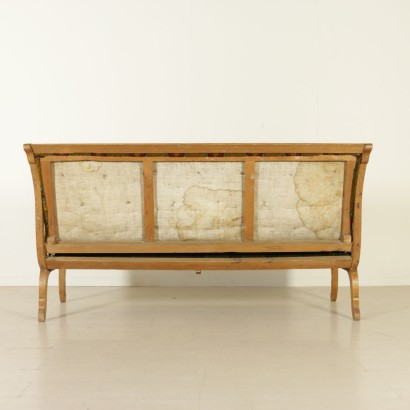 Elegant Inlaid Biedermeier Sofa Austria 19th Century