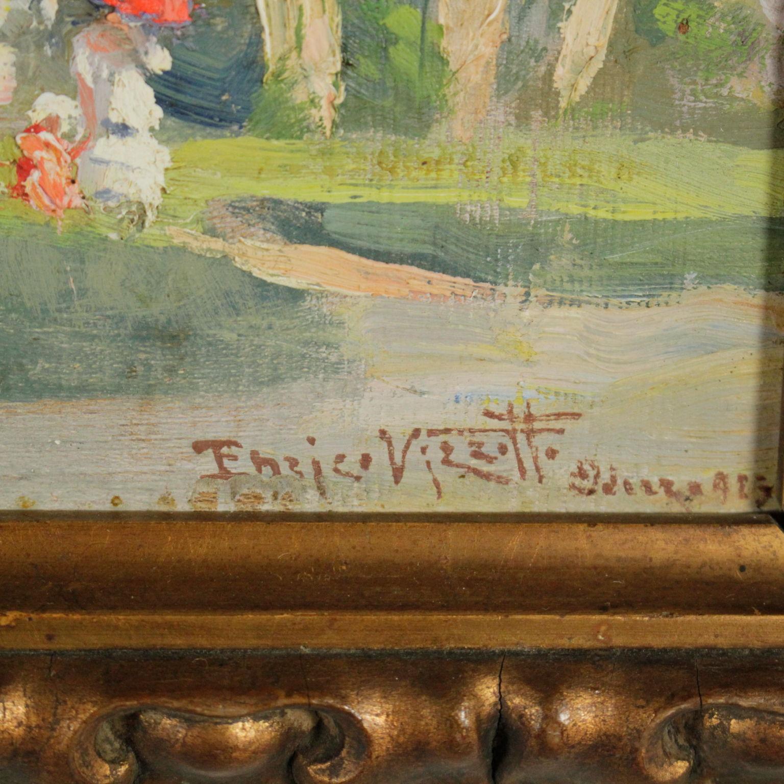 Enrico vizzotto veduta di giardino novecento arte - Arte e giardino ...